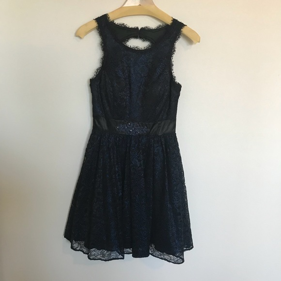 Betsy & Adam Dresses & Skirts | Navy Lace Cocktail Dress | Poshmark